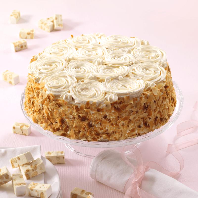 Fleurs de Nougat - Gâteau Moka à la crème de Nougat