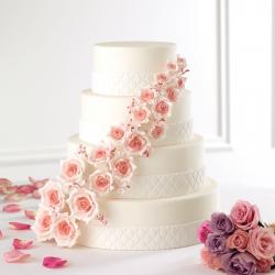 Scarlett Roses - wedding cake