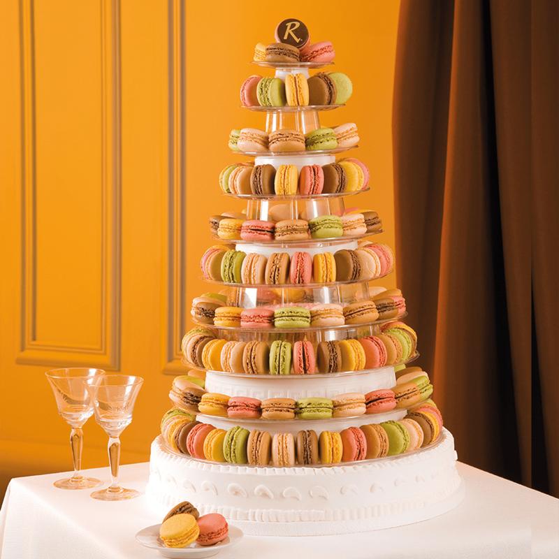 Pièce Montée de macarons - Mariage et cocktails - Pâtisserie La Romainville