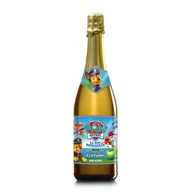 Bouteille Party-Fizz Pat Patrouille - boisson anniversaires enfants - La Romainville