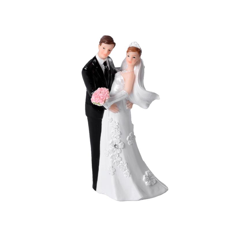 Couple Mariés Blancs - Figurine Mariage - Accessoires La Romainville