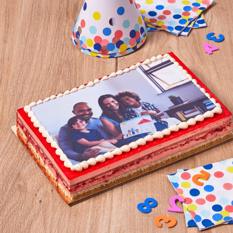 Framboisine Photo - personnalisez ce bon gâteau avec la photo de votre choix