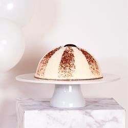 Gâteau Tartuffio - Dôme Noix de coco et chocolat - Pâtisserie La Romainville