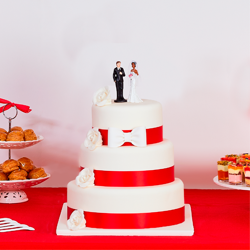 Wedding Cakes - Mariage - Marilyn Rouge pièce montée 3 étages