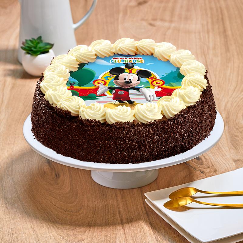Gâteau au chocolat ou vanille Mickey - Anniversaire enfant  - Pâtisserie La Romainville
