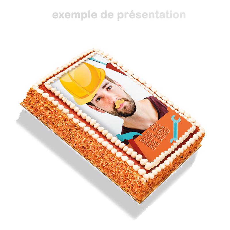 Papa Bricolo - layer cake à personnaliser avec photo de papa