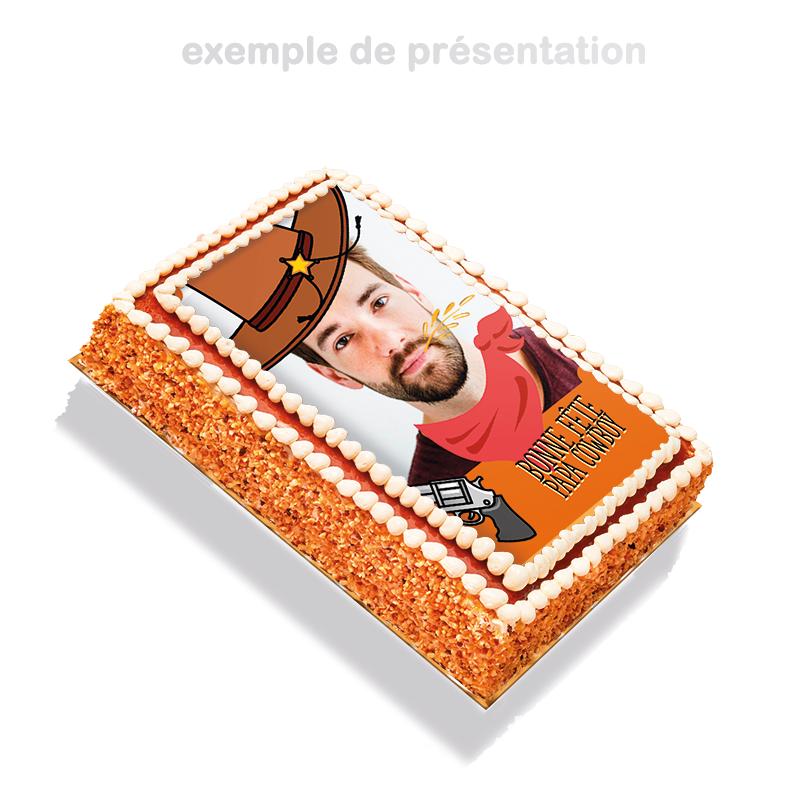 Papa Cowboy- layer cake à personnaliser avec photo de papa