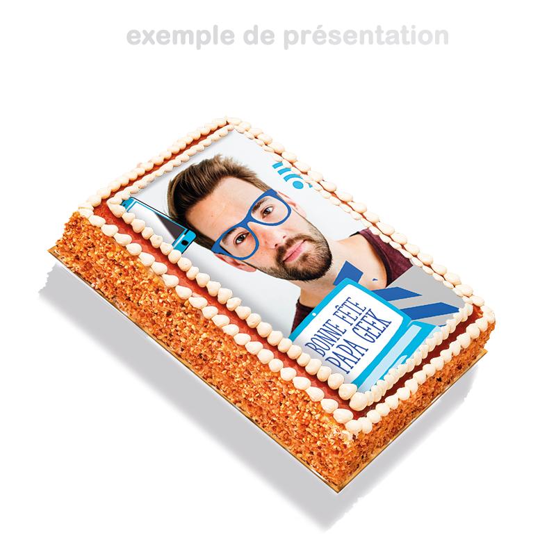 Papa Geek - layer cake à personnaliser avec photo de papa