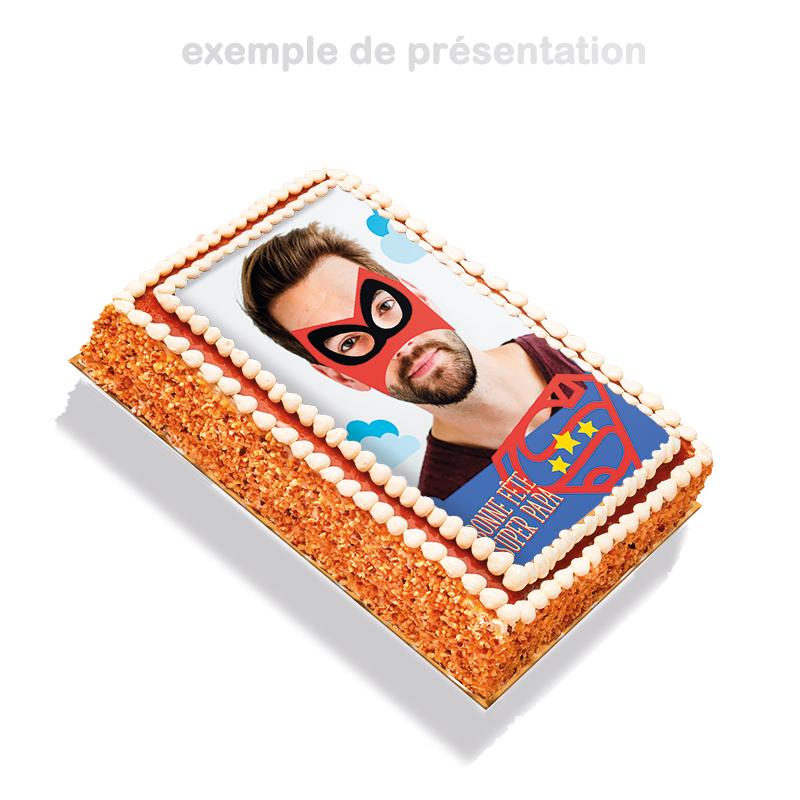 papa super héros - un gâteau à personnaliser de la photo de son papa
