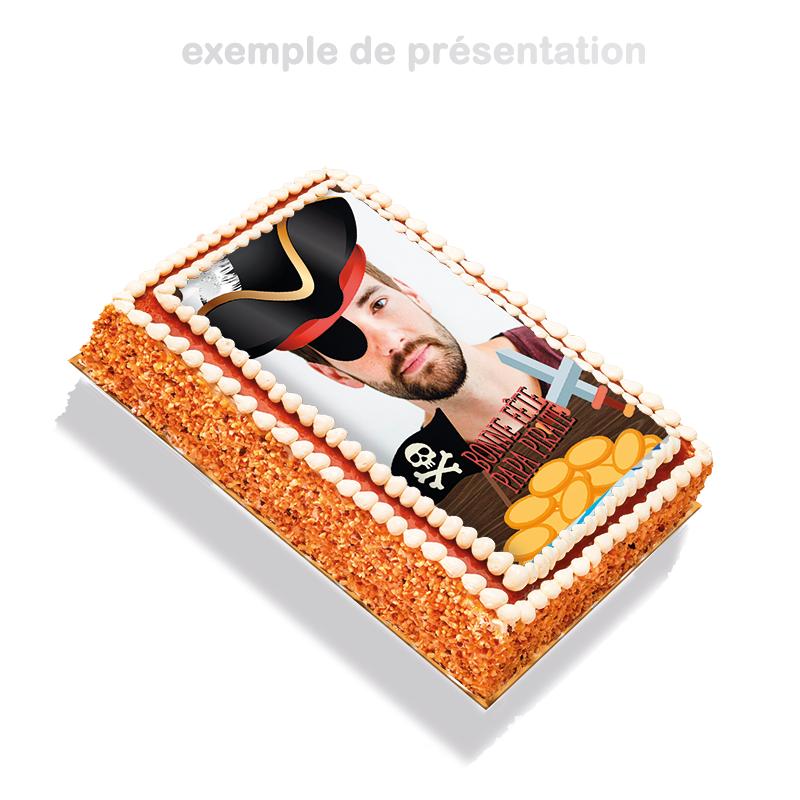 Papa Pirate - layer cake à personnaliser avec photo de papa