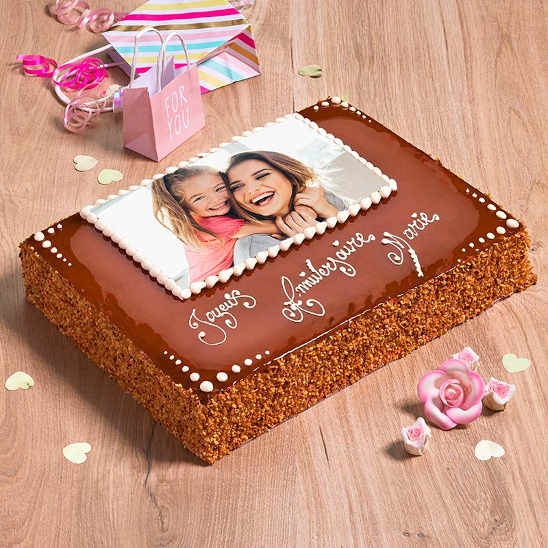 Poirier personnalisé - gâteau avec photo et inscription - Pâtisserie La Romainville