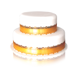 wedding cake doré 2 etages