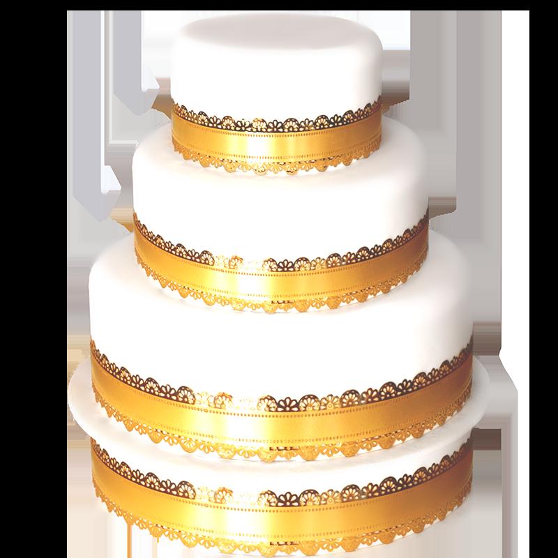 wedding cake doré 3 etages