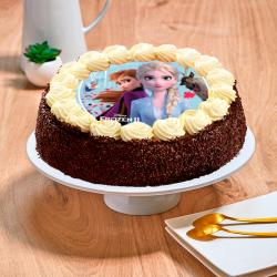 Gâteau au chocolat  Reine des neiges - Anniversaire enfant  - Pâtisserie La Romainville