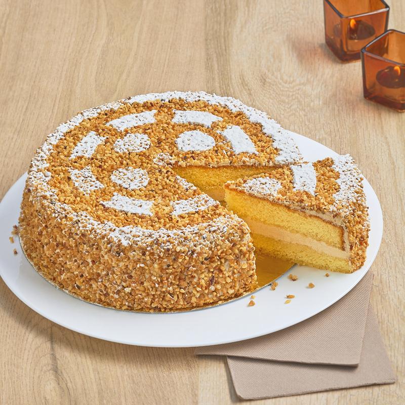 Moka Noisette - Gâteau à la crème noisette - Pâtisserie La Romainville