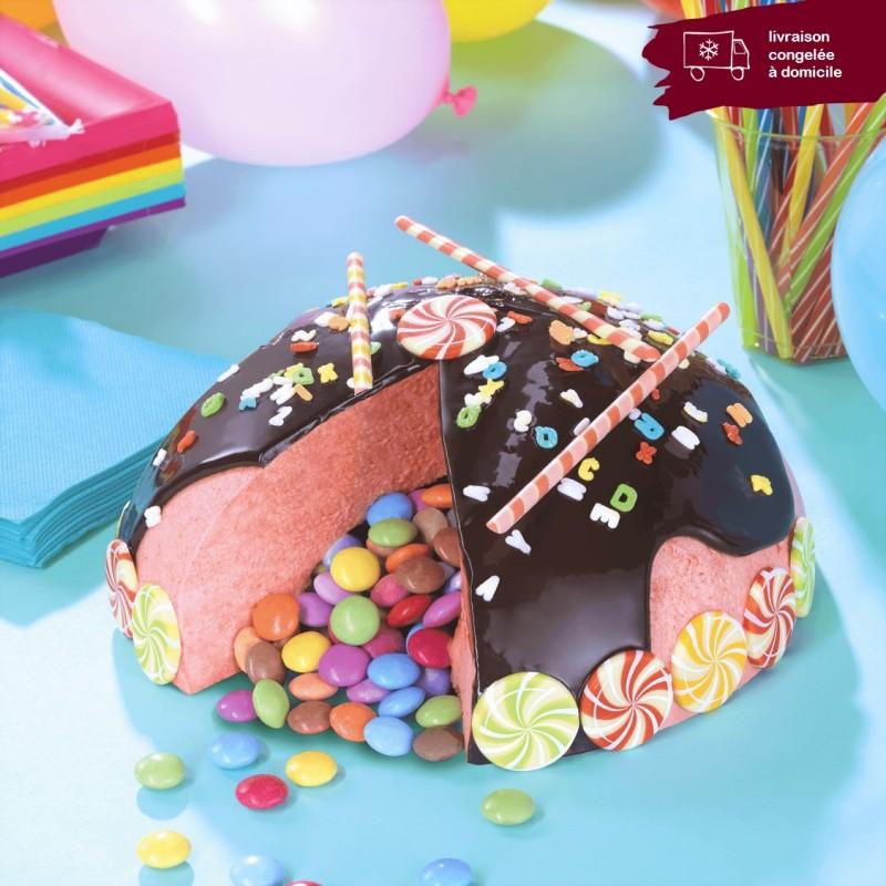 gâteau surprise fraise en livraison à domicile Smarties