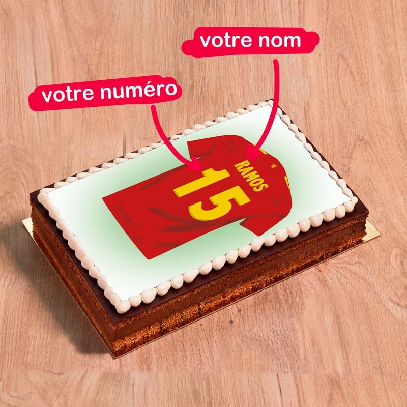 Gâteau photo Maillot d'Espagne