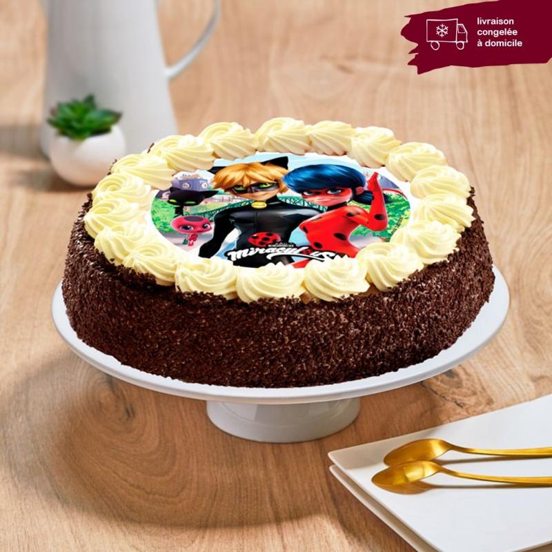 Gâteau chocolat enfant - Thème Miraculous